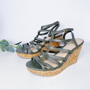 NWOT Cato Strappy Wedge Sandal